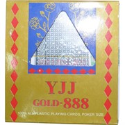 Карты YJJ GOLD-888 для покера 100% пластик 54 карты
