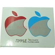 Карты для покера Apple 100% пластик 2 колоды x 54 карты