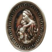 Панно из гипса «Мадонна с младенцем»
