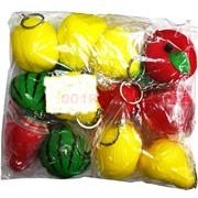 Сквиши брелок фрукты 12 шт/уп