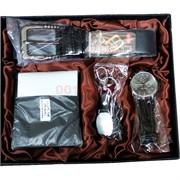 Набор Moongrass «портмоне, ремень, часы, брелок»