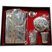 Набор подарочный Фляга, брелок-стаканчик, 2 стаканчика (1808)