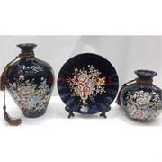 Набор Две вазы и тарелка (2277) из керамики