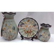 Набор Две вазы и тарелка (2278) из керамики