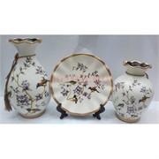 Набор Две вазы и тарелка (2279) из керамики