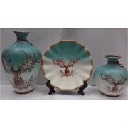 Набор Две вазы и тарелка (2280) из керамики