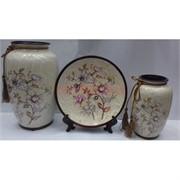 Набор Две вазы и тарелка (2281) из керамики