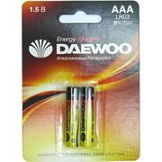 Батарейка алкалиновая DAEWOO AAA 40 шт