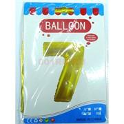 Воздушые шары с золотой цифрой «7»
