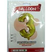 Воздушые шары с золотой цифрой «3»
