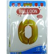 Воздушые шары с золотой цифрой «0»