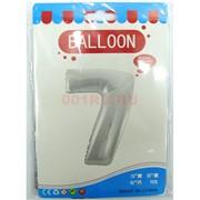 Воздушые шары с серебрянной цифрой «7»