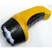 Фонарик аккумуляторный (NGY-009) желтый 17 см