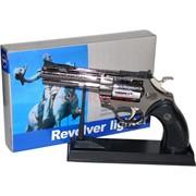 Зажигалка сувенир Револьвер на подставке Python 357 малый