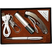 Набор подарочный «фонарик, ручка, карабин, штопор-нож» W3-1