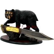 Набор подарочный Статуэтка Медведь с кинжалом