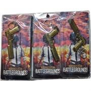 Брелок Battlegrounds (топоры, мечи, ружья, пули) 12 шт/уп