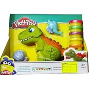 Игрушка Play-Toy глина для лепки с динозаврами