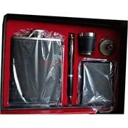 Набор подарочный (D17-10) с флягой 8 унций + портсигар + ручка