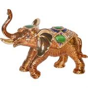Шкатулка (5022) со стразами «Слон хобот вверх»