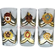 Набор 6 стопок 100 мл «ордена» квадратные в золоте