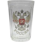 Стакан граненый 250 мл «Орел герб России» наклейка
