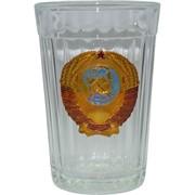 Стакан граненый 250 мл «герб СССР»