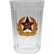 Стакан граненый 250 мл «звезда кокарда»
