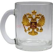 Чашка с ручкой «орел герб России» стеклянная