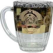 Бокал пивной 0,5 л «герб СССР» в золоте