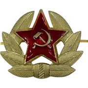 Значок металлический «звезда кокарда»