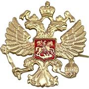 Значок металлический «двуглавый орел»
