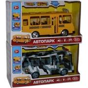 Машина Автопарк (автобус и омон и др.) виды в ассортименте