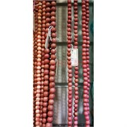 Родонит нитка 38-40 см длина 6 мм диаметр (цена за грамм)