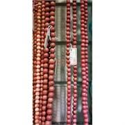 Родонит нитка 38-40 см длина 8 мм диаметр