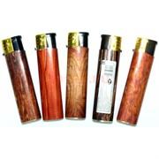 Зажигалка газовая пьезо «под дерево» 50 шт/уп