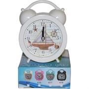 Будильник-часы кварцевые 4 модели цвета в ассортименте