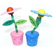 Игрушки деревянные в виде цветка 12 шт/уп