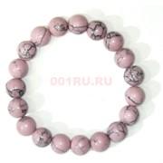 Браслет из розового кахалонга 10 мм (прессовка)