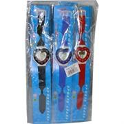 Часы детские силиконовые (СС-537) сердце 24 шт/уп