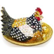 "Шкатулка со стразами ""Курица в гнезде"" (5340)"