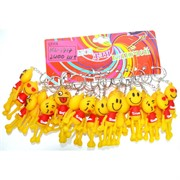 Брелок резиновый (KL-1717) Smile 120 шт/уп