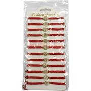 Браслет из красной нити (M-49) кресты со стразами 12 шт/уп