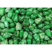 Заготовка для брелка большая зеленый камень