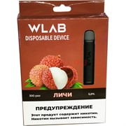 WLAB 300 затяжек Личи одноразовый испаритель
