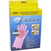 Силиконовые перчатки для мытья посуды Magic Brush 100 шт/кор