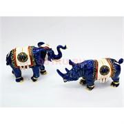 Слон и носорог металл Фэншуй охранный амулет