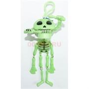 Брелок Скелет флуоресцентный с двигающейся челюстью 48 шт/уп