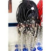 Браслет черная нить вощеный шнурок 100 шт/уп
