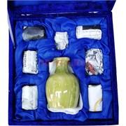 Набор из оникса Графин и 6 бокалов в бархатной упаковке (3x5)